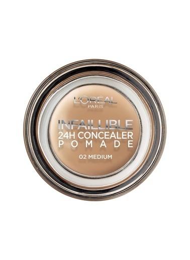 L'Oréal Paris L'Oréal Paris Infaillible 24H Concealer Pomade Kapatıcı 02 Medium - Koyu Ton Ten